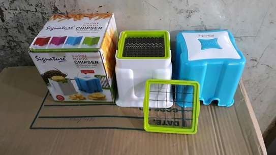 Chips cutter/fingers potato chips cutter/vegetable cutter/2 in1potato chipser image 4