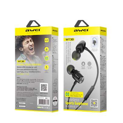 Awei WT30 Magnetic Sports Bluetooth Earphone Earbuds image 5