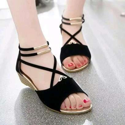 Low Wedges Open Shoe's