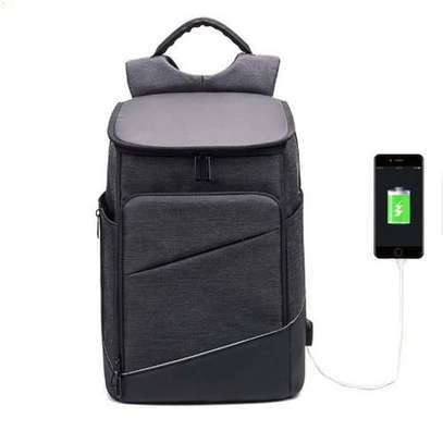 Antitheft Bags With Charging Port Premium- Black image 1