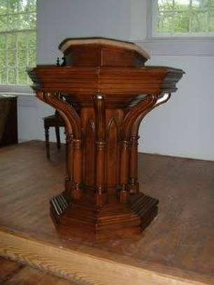 Church Mahogany Pulpits pedestals image 1