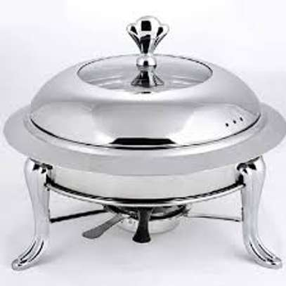 5 pc stainless steel food warmer set image 2