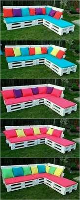 Versatile 6 Seater L-Shaped Pallet Sofa image 1