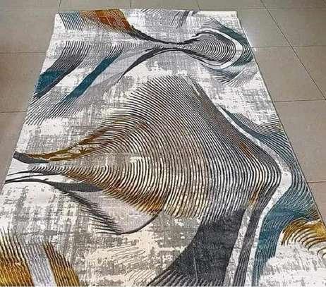 Persian  carpet  wavy brown image 1