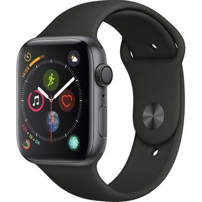 Apple Watch Series 4 (GPS Only, 44mm, Space Gray Aluminum, Black Sport Band)