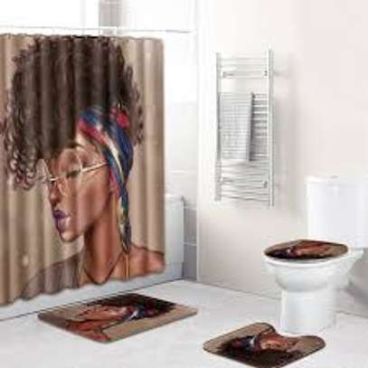 curtain bathroom mat sets image 3