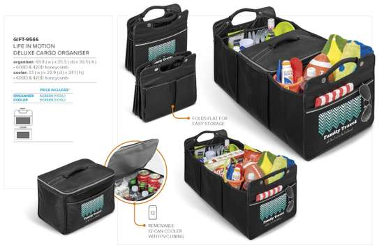 Life in Motion Deluxe Cargo Organizer Branded