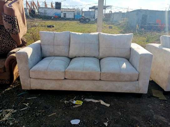 Modern three seater sofa. image 1