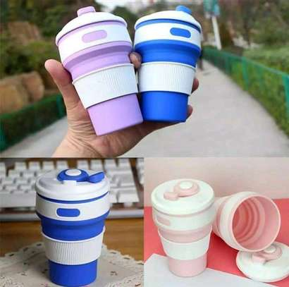 Collapsible & portable silicone cups. image 3
