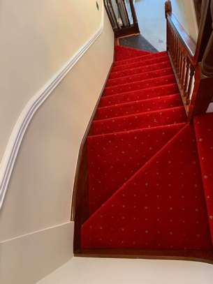 RED WALL TO WALL CARPETS 4MM THICKNESS image 2