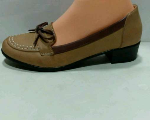 Ladies leather official shoes image 2