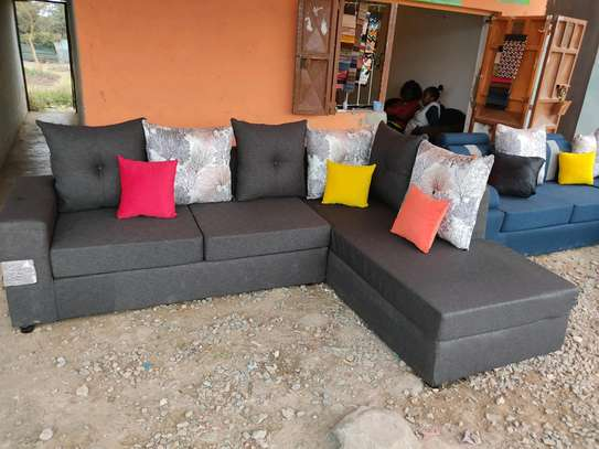 L shape 6 seater grey image 1