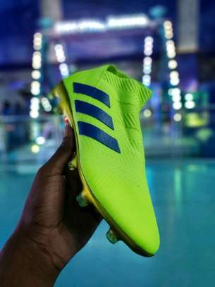 The Adidas Nemeziz 18+ Laceless Soccer Cleats image 5