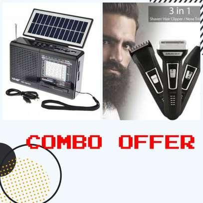 Bundle Offer - Solar Radio + 3 in 1 Shaver image 1
