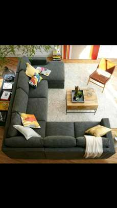 8-seater U shaped sofa image 1