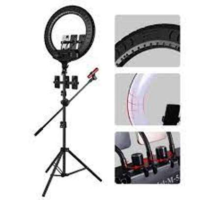 54cm 21 inch ring light USB 3 Modes Dimmable LED Ring Photography Video Lights with Cold Shoe Tripod Ball Head image 1