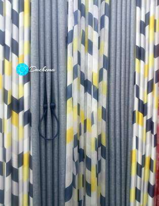 blue custom-made double sided curtains image 1