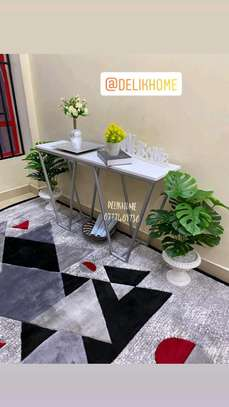 Console table and plants image 1