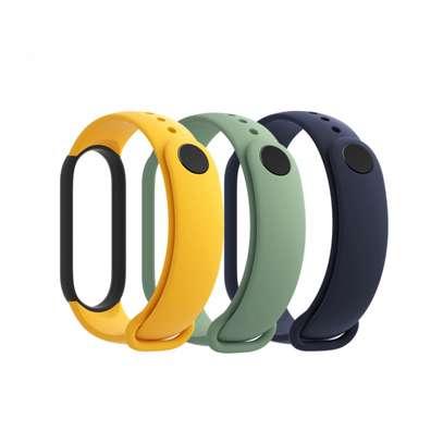 Xiaomi Mi Smart Band 5 Strap (3-Pack) Blue + Yellow + Light Green image 2