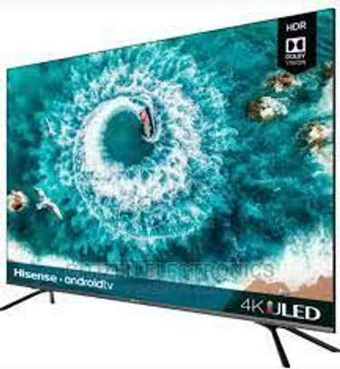 Hisense 55 inch smart UHD 4K Android TV image 1