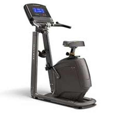 Matrix fitness U30 upright bike with Xer console image 1