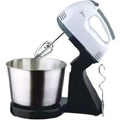 7 Speed Electric Hand mixer with bowl image 1