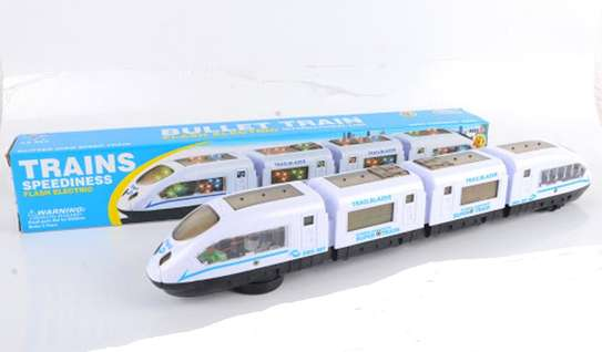Speed White Electric Train Lights Children/Kids Play Toy image 3