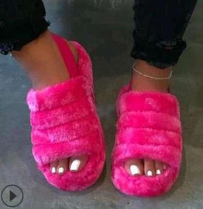 Ladies Flaffy Flip flops image 2