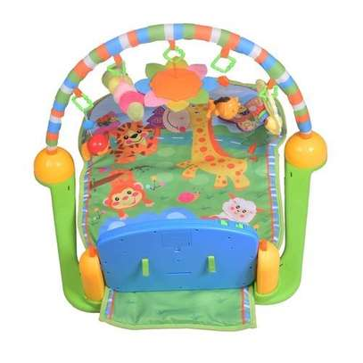 Generic Piano Play Gym Playmat - Blue image 2