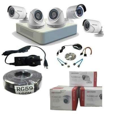 5 Five CCTV camera Complete cameras Sale only image 1