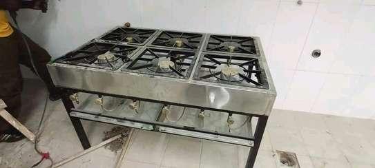 6 Stainless burners jiko image 1