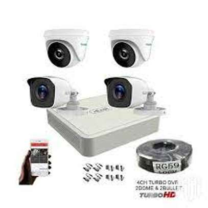 Four 4 CCTV Cameras Complete Security System Kit Package +1 image 1
