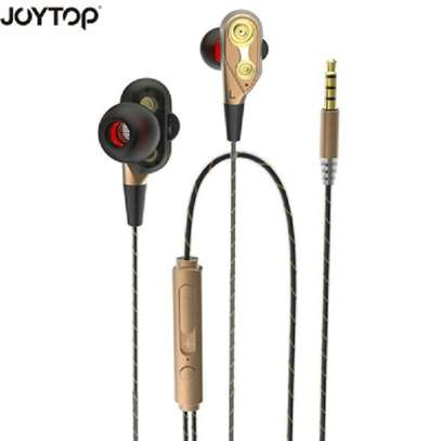 Dual Drive Stereo earphone In-ear Headset Earbuds Bass Earphones For Phone earphones With Mic image 1