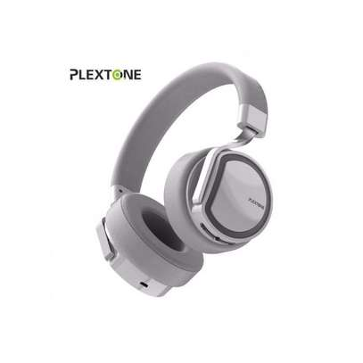 Plextone BT270 smart compatible wireless wired stereo headphone-White