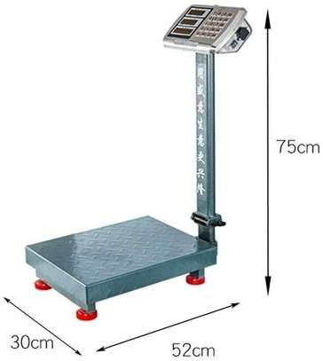 Heavy Duty Folding Scales LCD Perfect For Postal Luggage Shipping Mailing Package Price Computing (Size : 100KG) image 1