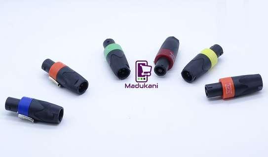 Set of 6 Speakon NL4FX Lockable Cable Connectors image 1