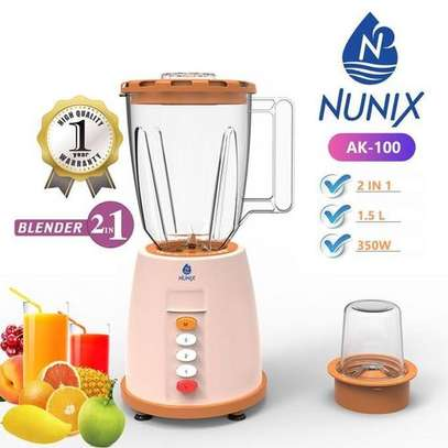 Nunix AK-100, 2 In 1 Blender With Grinding Machine, 1.5L image 1