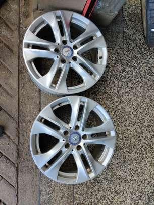 """Original Mercedes Benz Rims 17"""" (2pc) image 2"""