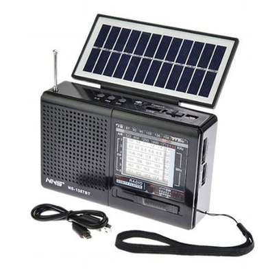 NS-1587BT Portable Solar FM Radio That Can Use E lectricity,Batteries Or Solar Panel- Varying Colou