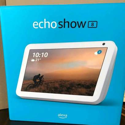 Amazon Echo Show 8 brand new and sealed in a shop.