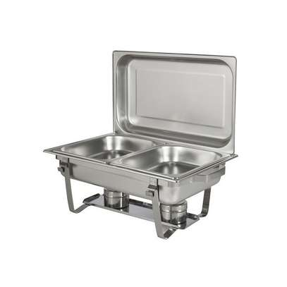 Signature signature double partitioned chafing dish image 1