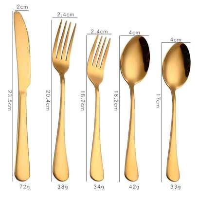 5-piece luxury cutlery set image 1