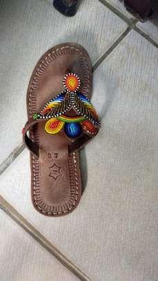 Fashion stylish beaded ladies sandals image 2
