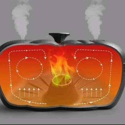 Sweet potatoes baking/roasting cast iron pot image 2