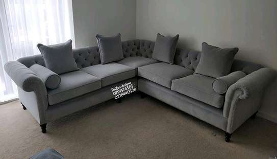 Five seater grey L shaped sofa for sale in Nairobi Kenya/sectional couches/modern sofas and couches manufacturers in Nairobi Kenya image 1