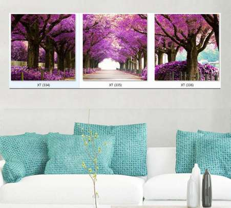 Purple Three piece wall hanging XT(334)(335)(336)