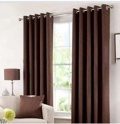 Linen Brown Curtains image 1