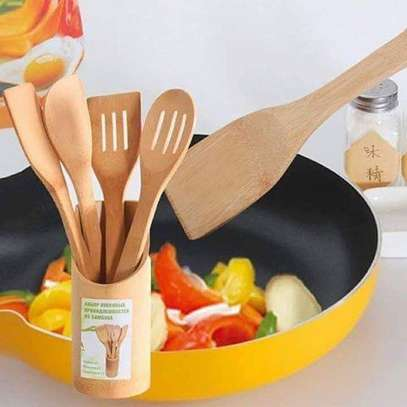 4pcs +1holder wooden spoon set image 2