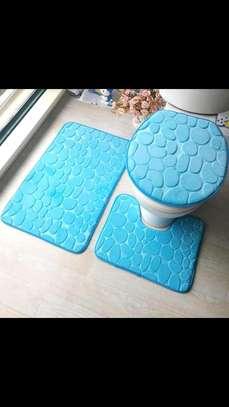 Toilet  mat/3 piece rug set image 1