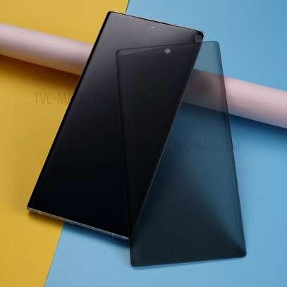 UV Privacy Anti-Spy Anti-Peep NANO Liquid Full Glue Tempered Glass For Samsung Note 20/Note 20 Ultra image 2